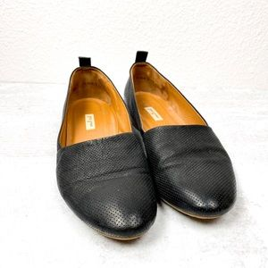Paul Green Perforated Leather Loafer Slip On - 5.5